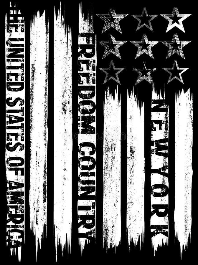 Vector el ejemplo en el tema en la libertad de New York City agujas libre illustration