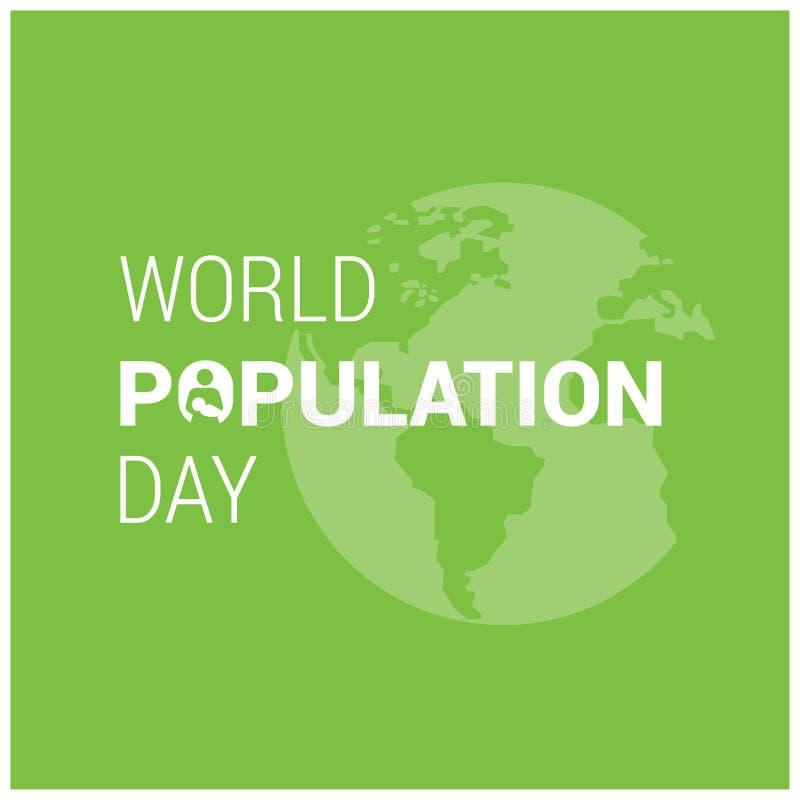 Vector el ejemplo, la bandera o el cartel del día de la población de mundo Gl libre illustration