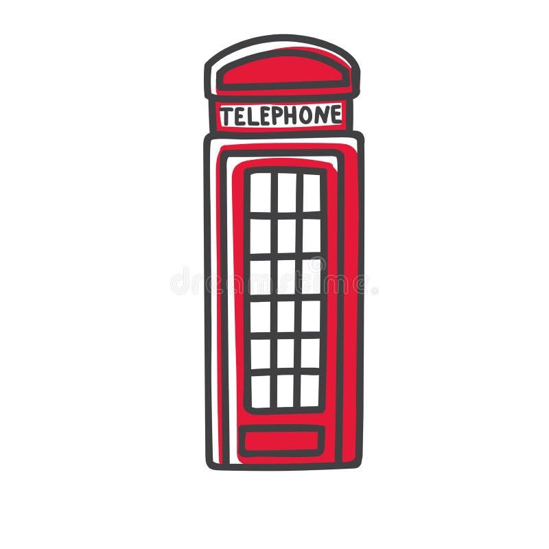 Vector el ejemplo moderno de un símbolo famoso de Londres - cabina de teléfonos de la calle libre illustration