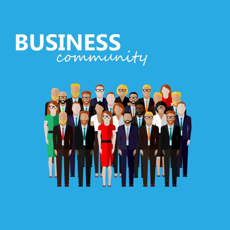 Vector el ejemplo plano de la comunidad del negocio o de la política ilustración del vector
