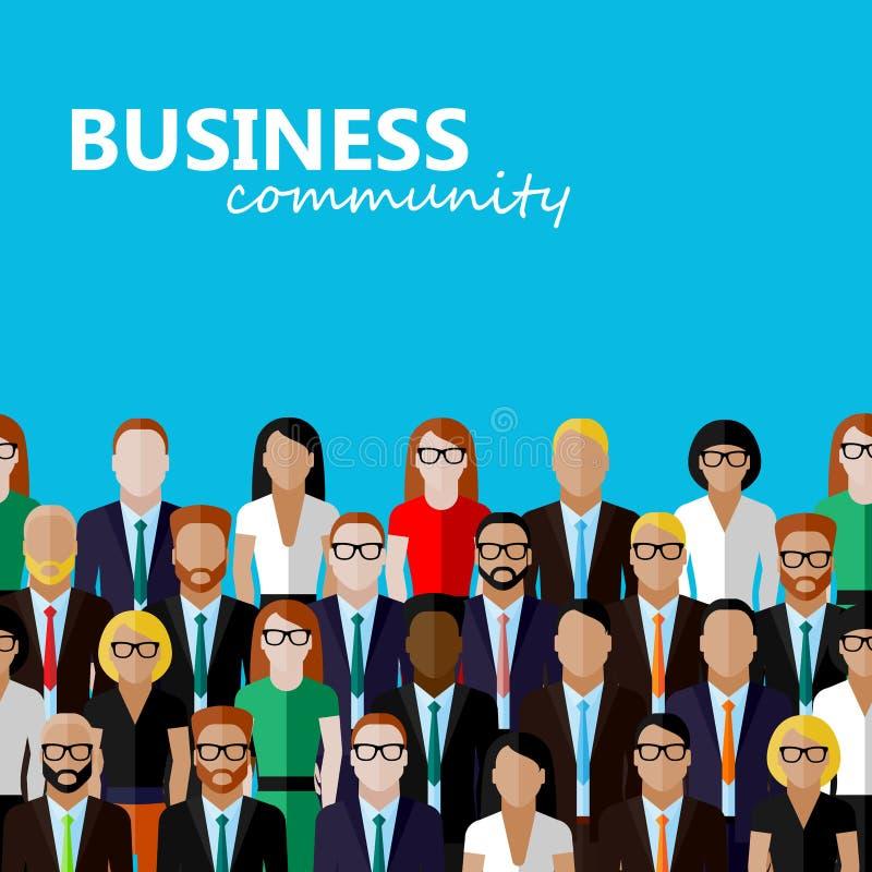 Vector el ejemplo plano de la comunidad del negocio o de la política libre illustration