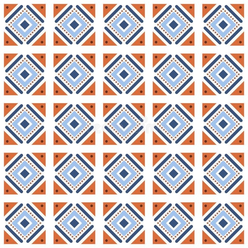 Vector el embaldosado inconsútil del modelo con diversas formas geométricas en estilo simple ilustración del vector