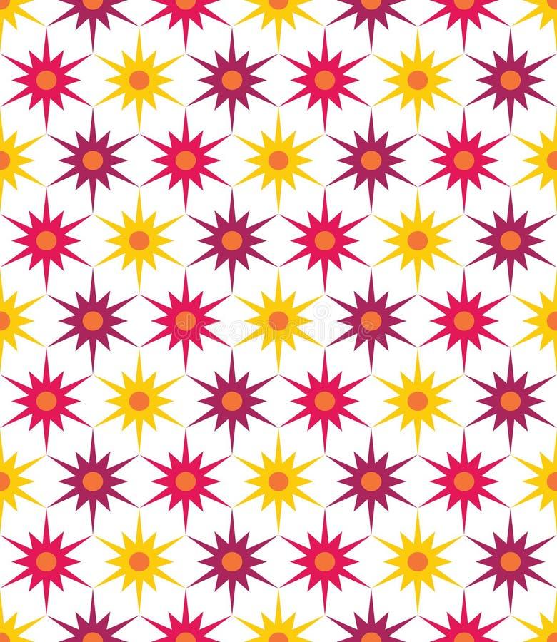 Vector el estampado de flores colorido inconsútil moderno de la geometría, fondo geométrico abstracto del color ilustración del vector