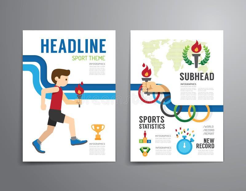 Vector el folleto, aviador, tem del diseño del cartel del folleto de la portada de revista stock de ilustración