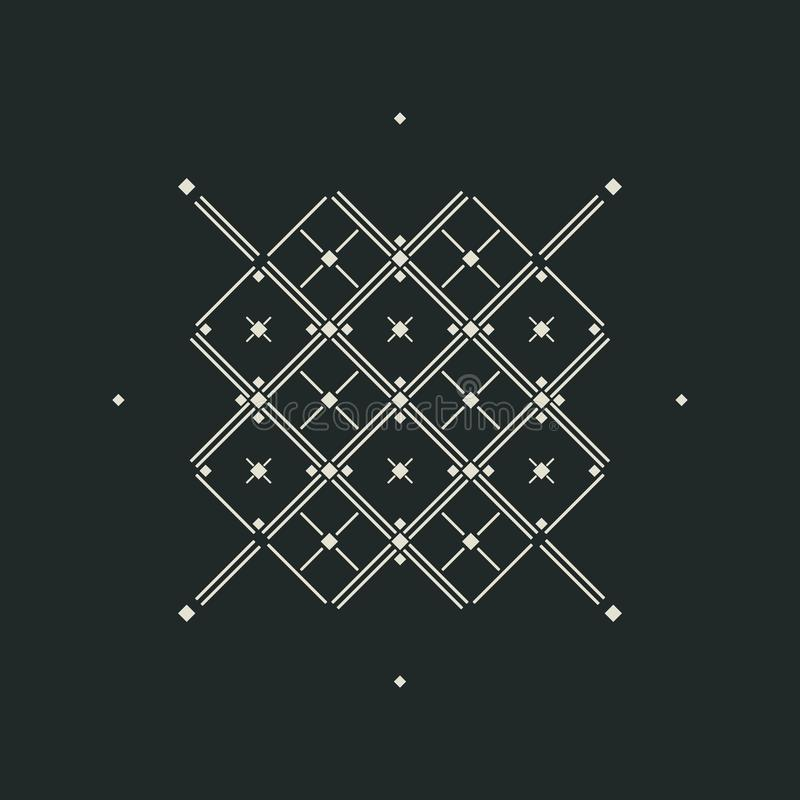 Vector el fondo abstracto con las cruces y las líneas de los rombos stock de ilustración