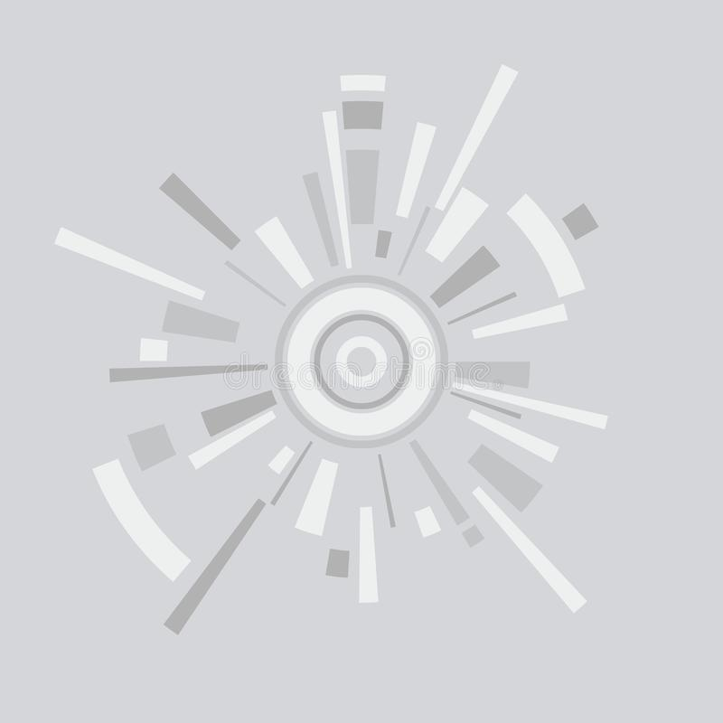 Vector el fondo abstracto del círculo con las líneas y los círculos stock de ilustración