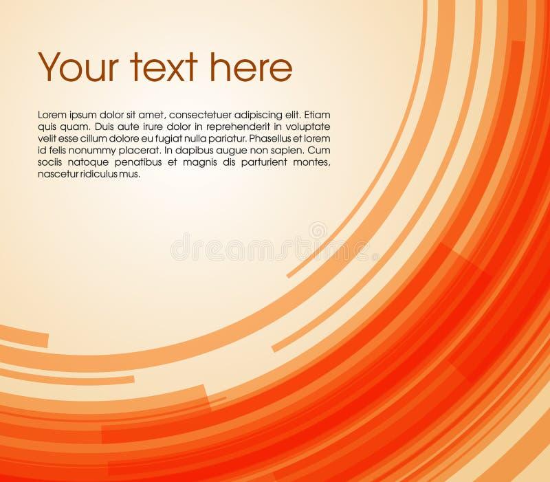 Vector el fondo abstracto del rectángulo del círculo en color anaranjado libre illustration