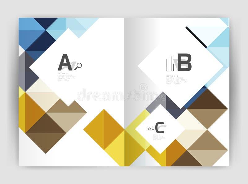 Vector el fondo abstracto minimalistic cuadrado, folleto a4 del negocio de la plantilla de la impresión libre illustration