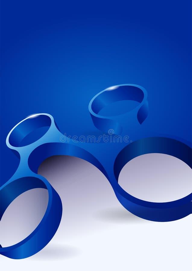Vector el fondo azul abstracto con la forma moderna 3d stock de ilustración