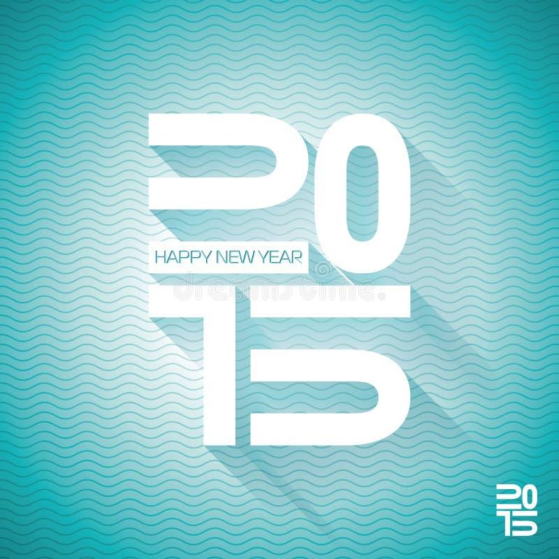 Vector el fondo colorido de la celebración de la Feliz Año Nuevo 2015 del vector con diseño tipográfico ilustración del vector