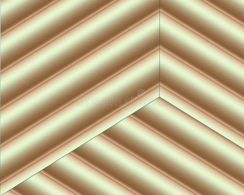 Vector el fondo con formas marrones y beige del corte del papel del color estilo de papel abstracto del arte 3D, disposici?n de d stock de ilustración
