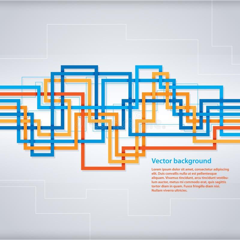 Vector el fondo con las rayas geométricas para hacer publicidad o el diseño web stock de ilustración