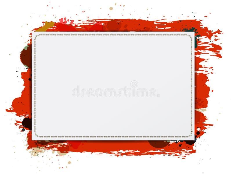 Vector el fondo de papel de la bandera con la pintura sucia roja libre illustration