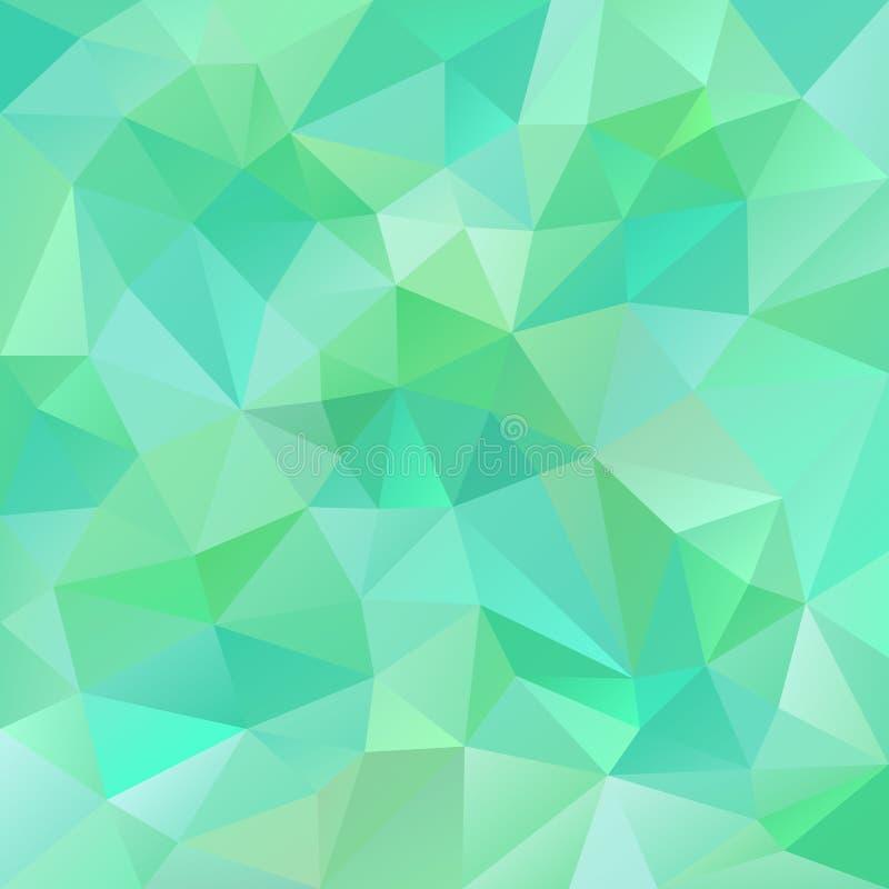 Vector el fondo del polígono con el modelo irregular de los tessellations - diseño triangular en colores frescos de la primavera stock de ilustración