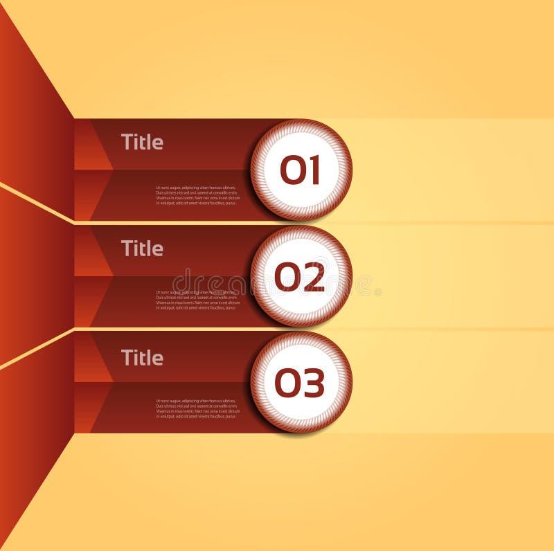 Vector el fondo del progreso/la opción o la versión de producto libre illustration