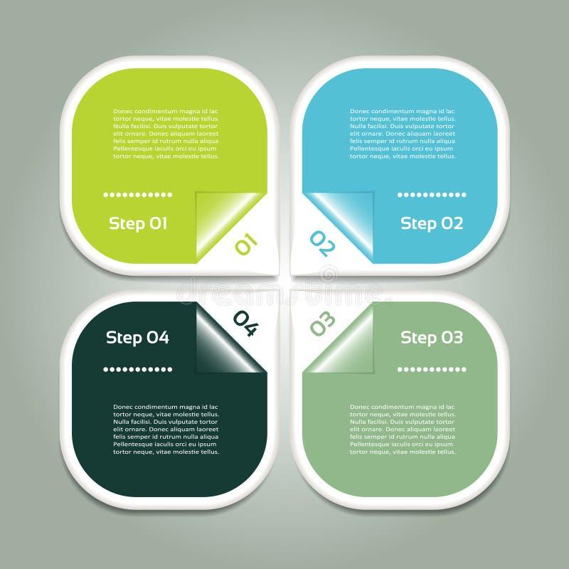 Vector el fondo del progreso/la opción o la versión de producto ilustración del vector