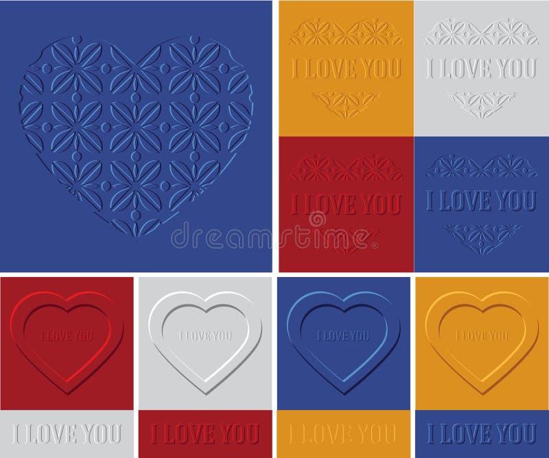 Vector el fondo del volumen del ejemplo, día del ` s de la tarjeta del día de San Valentín fotos de archivo