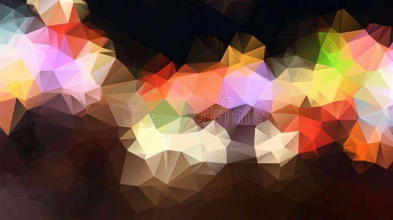 Vector el fondo geométrico poligonal moderno abstracto del triángulo del polígono stock de ilustración