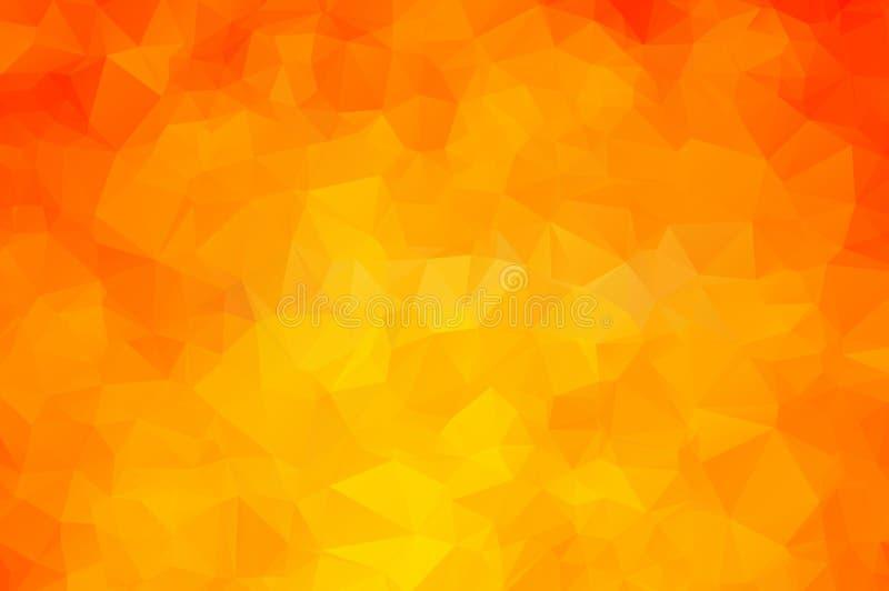 Vector el fondo geométrico poligonal moderno abstracto del triángulo del polígono Fondo geométrico anaranjado del triángulo libre illustration