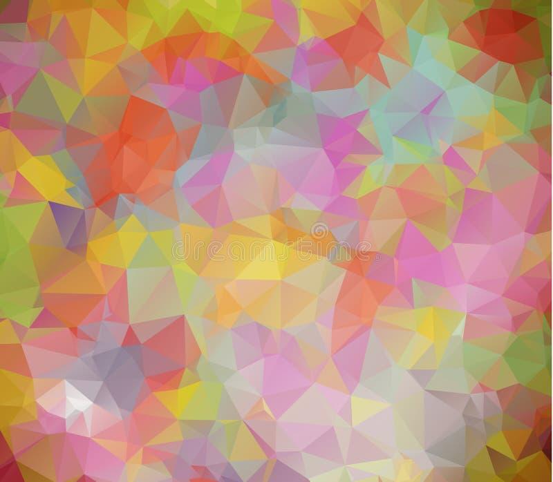 Vector el fondo geométrico poligonal moderno abstracto del triángulo del polígono Fondo geométrico colorido del triángulo libre illustration