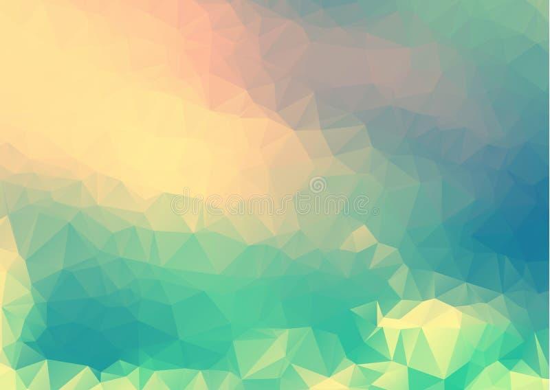 Vector el fondo geométrico poligonal moderno abstracto del triángulo del polígono Fondo geométrico colorido del triángulo stock de ilustración