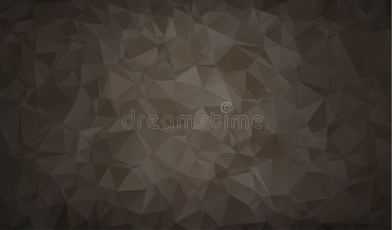 Vector el fondo geométrico poligonal moderno abstracto del triángulo del polígono Fondo geométrico negro del triángulo libre illustration