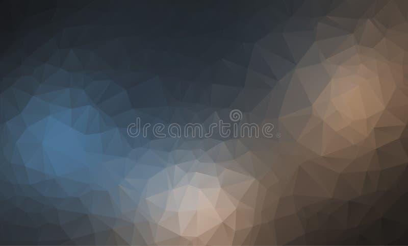 Vector el fondo geométrico poligonal moderno abstracto del triángulo del polígono Fondo geométrico oscuro del triángulo libre illustration