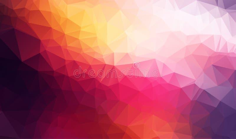 Vector el fondo geométrico poligonal moderno abstracto del triángulo del polígono fondo geométrico oscuro colorido del triángulo ilustración del vector
