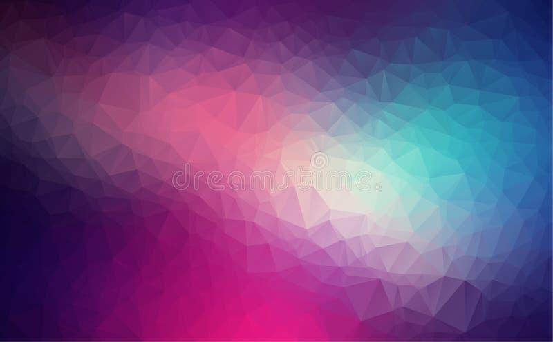 Vector el fondo geométrico poligonal moderno abstracto del triángulo del polígono fondo geométrico purpúreo claro del triángulo libre illustration
