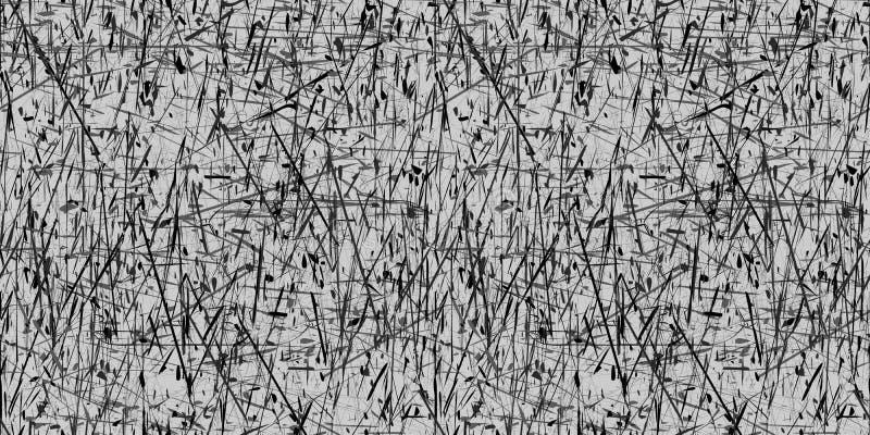 Vector el fondo gris y negro abstracto inconsútil del grunge stock de ilustración