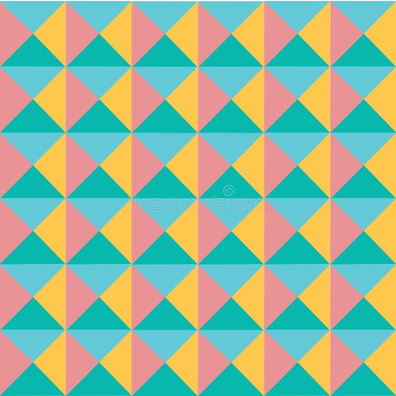 Vector el fondo inconsútil de la geometría del extracto en colores pastel colorido moderno del modelo, textura retra libre illustration