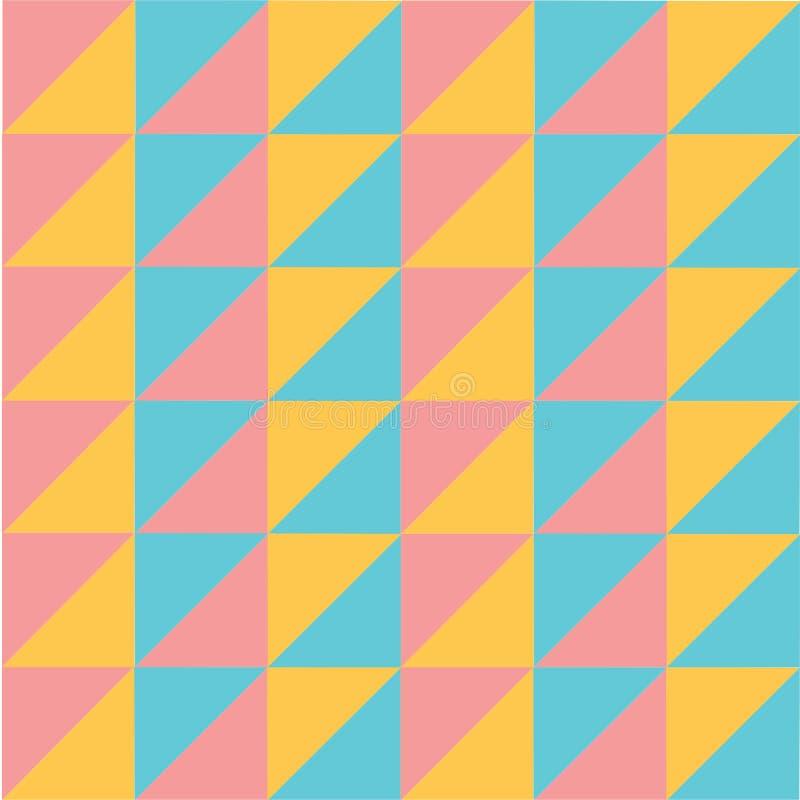 Vector el fondo inconsútil de la geometría del triángulo del extracto en colores pastel colorido moderno del modelo ilustración del vector