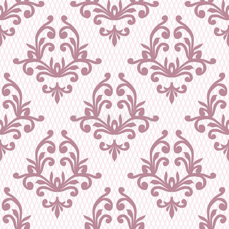 Vector el fondo inconsútil del modelo del damasco Textur de lujo elegante ilustración del vector