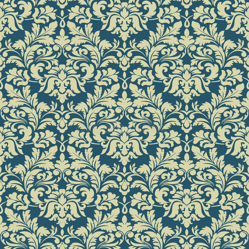 Vector el fondo inconsútil del modelo del damasco Ornamento pasado de moda de lujo clásico del damasco, victorian real inconsútil libre illustration
