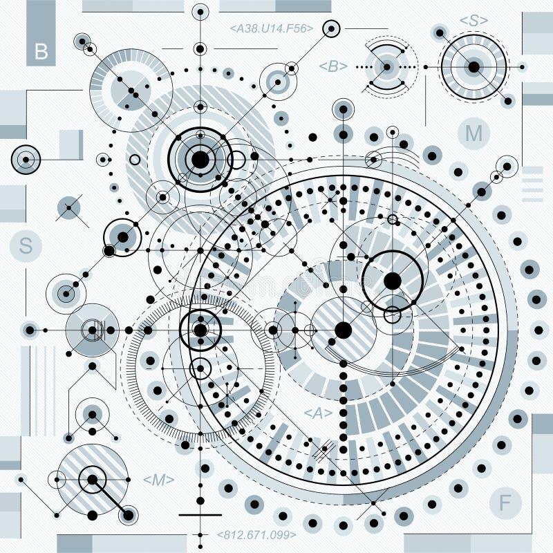 Vector el fondo industrial y de la ingeniería, p técnico futuro ilustración del vector