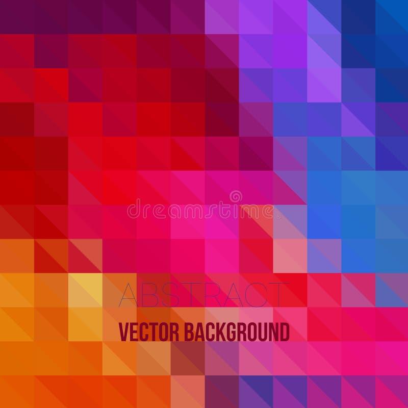 Vector el fondo irregular abstracto del polígono con un modelo triangular en colores a todo color del espectro del arco iris libre illustration
