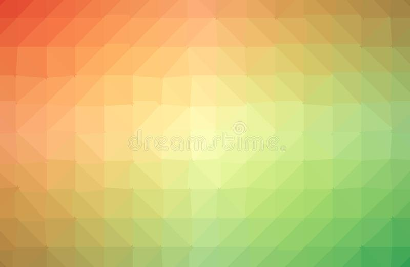 Vector el fondo irregular abstracto del pol?gono con un modelo en multicolor lleno - espectro del tri?ngulo del arco iris ilustración del vector