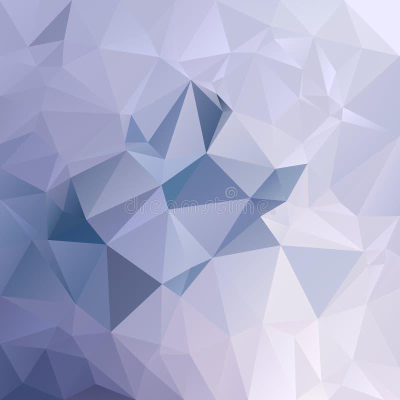 Vector el fondo irregular del polígono con un modelo del triángulo en color ligero del azul de cielo stock de ilustración