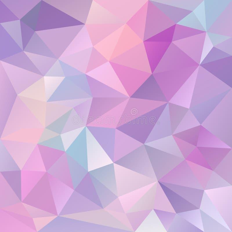 Vector el fondo irregular del polígono con un modelo del triángulo en color púrpura y azul en colores pastel ligero libre illustration