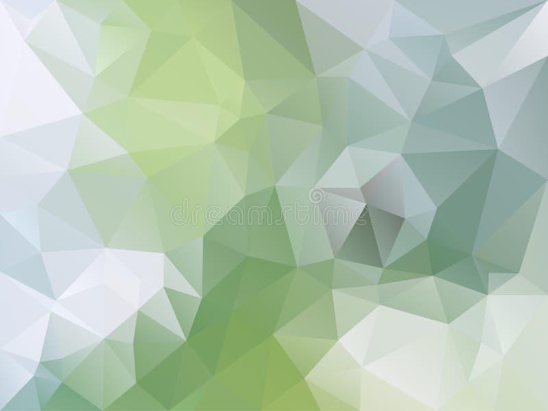 Vector el fondo irregular del polígono con un modelo del triángulo en color verde claro y azul libre illustration