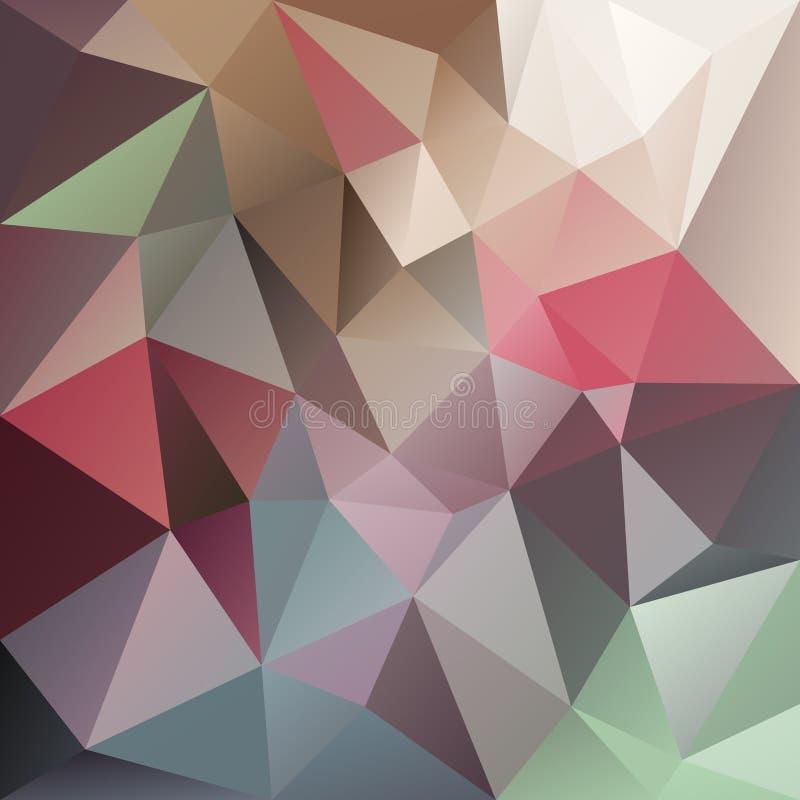 Vector el fondo irregular del polígono con un modelo del triángulo en multicolor en colores pastel stock de ilustración