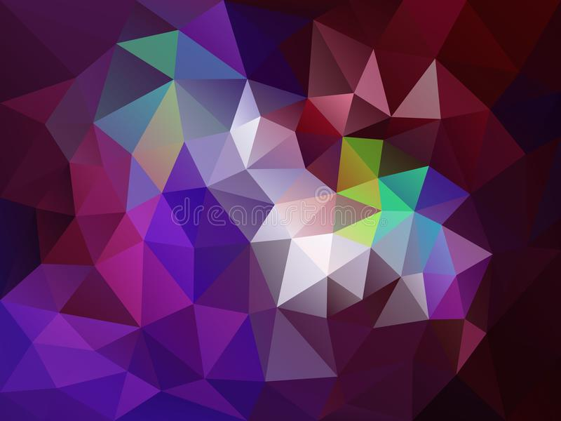Vector el fondo irregular del polígono con un modelo del triángulo en rojo oscuro, púrpura y el color de Borgoña libre illustration