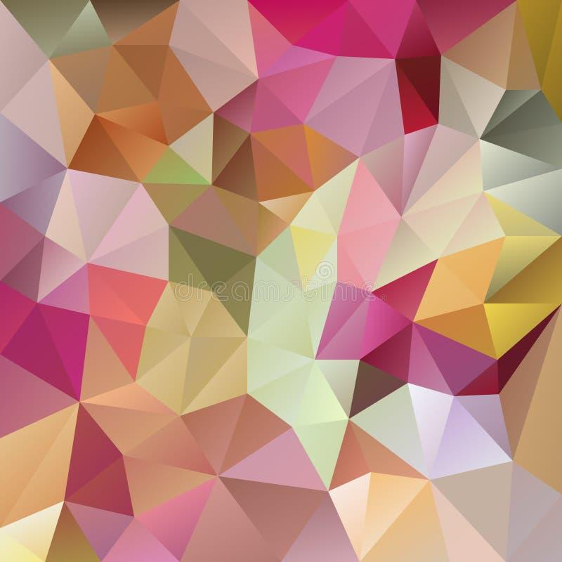 Vector el fondo irregular del polígono con un modelo triangular en colores completos en colores pastel del espectro stock de ilustración