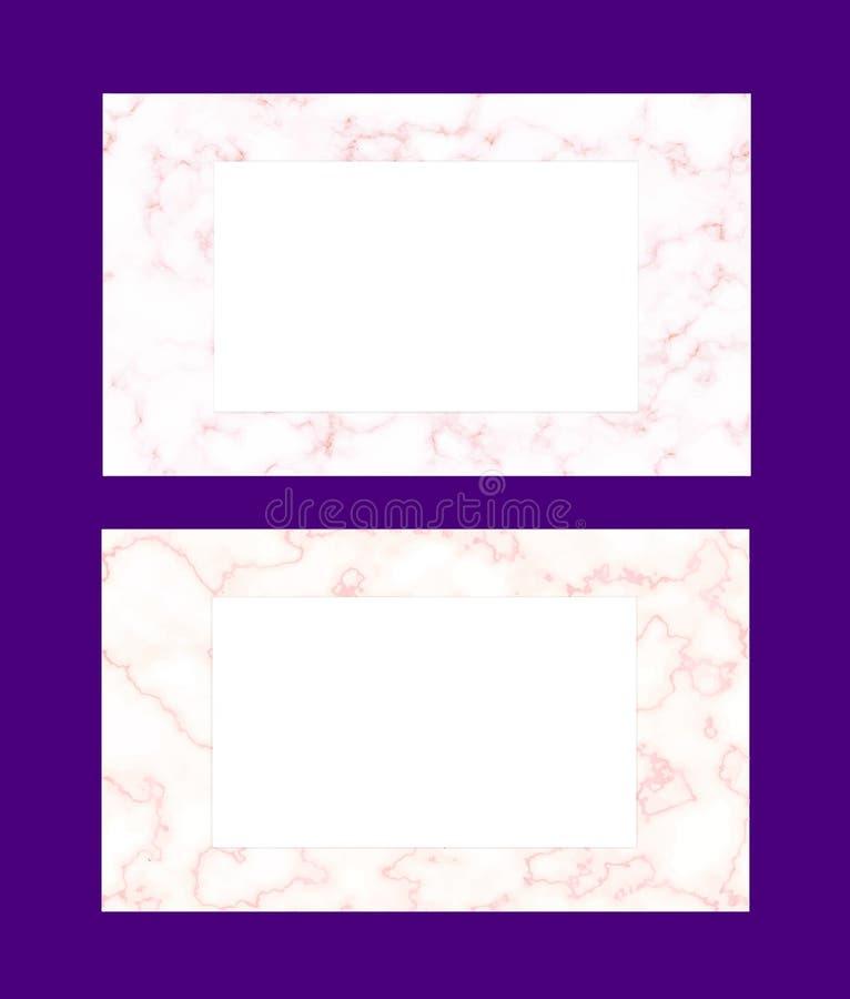 Vector el fondo moderno abstracto para la tarjeta el casarse o de visita con textura color de rosa del mármol del oro Modelo para libre illustration