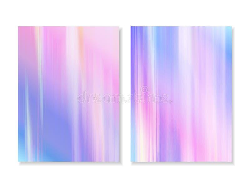 Vector el fondo olográfico abstracto 80s - 90s, textura colorida de moda en diseño en colores pastel, de neón del color diseño de libre illustration