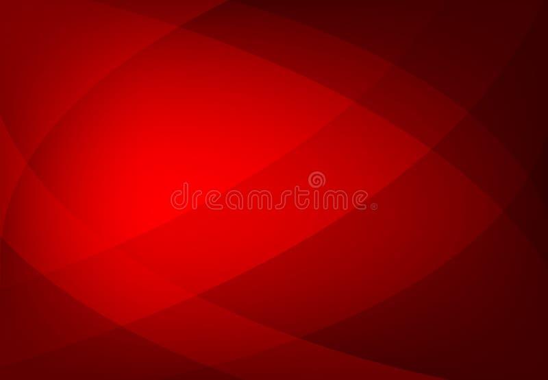 Vector el fondo ondulado geométrico abstracto del color rojo, papel pintado para cualquier diseño stock de ilustración