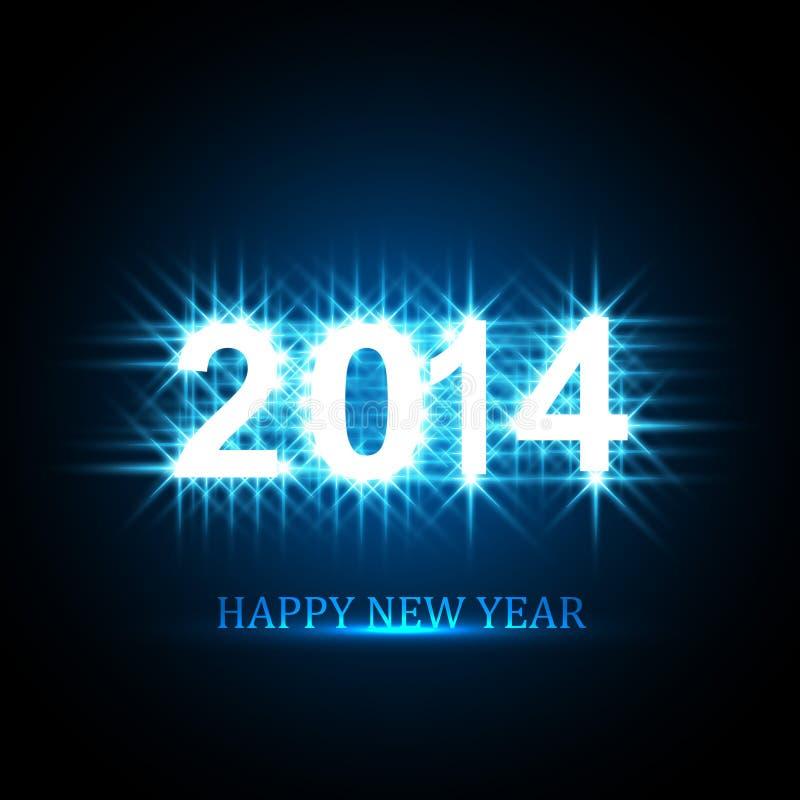 Vector el fondo para el texto brillante de la Feliz Año Nuevo 2014 ilustración del vector
