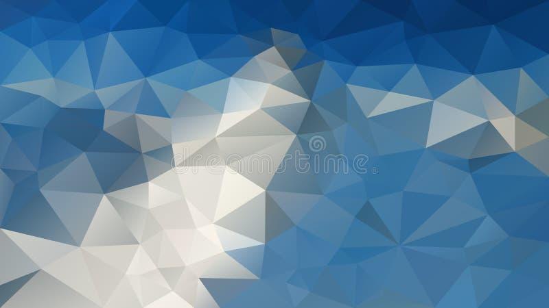 Vector el fondo poligonal irregular - modelo polivinílico bajo del triángulo - el color de piedra del gris de la montaña y del az stock de ilustración