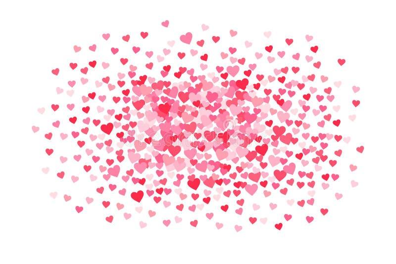 Vector el fondo rosado y rojo de los corazones de los días de tarjetas del día de San Valentín ilustración del vector