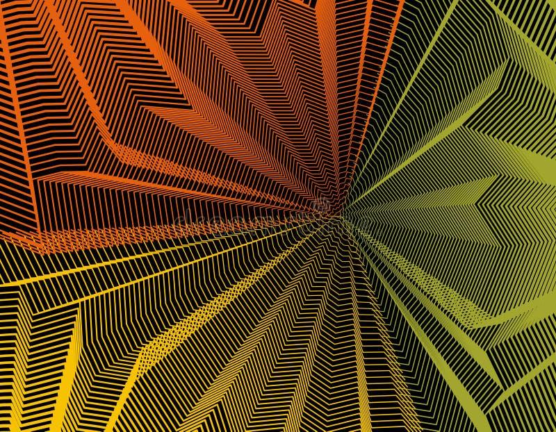 Vector el fondo surrealista ilusorio del arte para el diseño como un halluci libre illustration